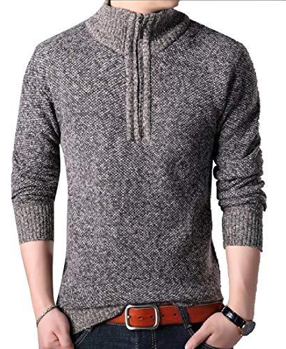 ChengZhong Herren Winterwear Sporty Slim Fit 1/4 Zip Fleece Pullover Sweatshirt Gr. US XL, 5 -