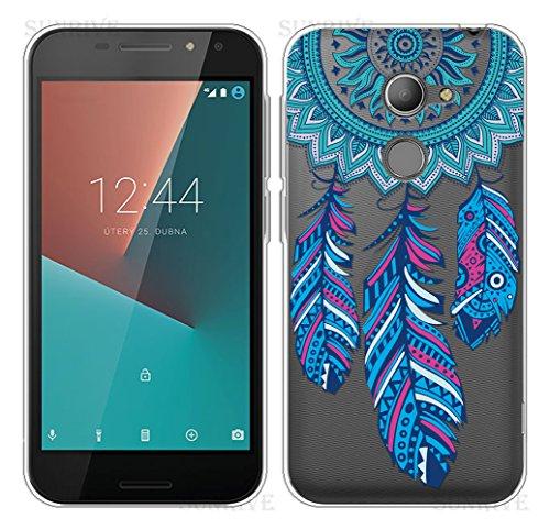 Sunrive Für Vodafone Smart N8 Hülle Silikon, Transparent Handyhülle Schutzhülle Etui Case Backcover für Vodafone Smart N8(TPU Traumfänger)+Gratis Universal Eingabestift