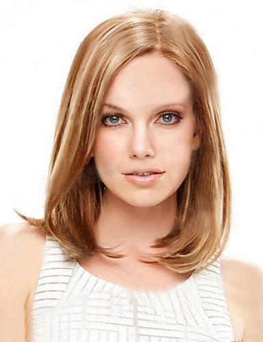 BBDM cheveux courts Bob perruques femmes blanches européennes femmes noires synthétiques Perruques courtes naturelles , blonde