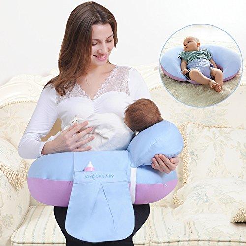 LJHA Oreillers d'allaitement Oreiller d'allaitement Oreiller de Taille Oreiller de maternité 4 Couleurs Disponibles 60 * 60cm Oreillers d'allaitement (Couleur : D)