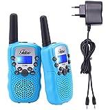 Fetoo Walkie Talkie für Kinder mit Akku, Standladeschale 0,5W 8 Kanäle VOX Taschenlampe Funkgeräte