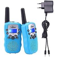 Fetoo Walkie Talkie für Kinder mit Akku Standladeschale 0,5W 8 Kanäle VOX Taschenlampe Funkgeräte mit LCD Display