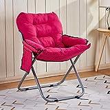LiPengTaoShop Klappstuhl einfache faul Stuhl Student Sofa Stuhl Home-Office mit Rückenlehne liegend kann Falten A++ (Color : Pink)