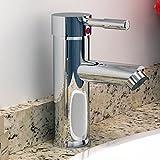 keinode Spüle Armatur Moderne Chrom Wasserfall Zylinder Form Wasserhahn Wanneneinlauf Dusche UK Standard Armaturen Messing massiv poliert chrom Einhebel-Armatur für Küche Bad WC