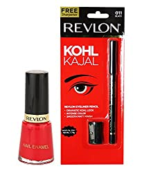 Revlon Kohl Kajal and Nail Enamel Revlon Red (Set of 2)