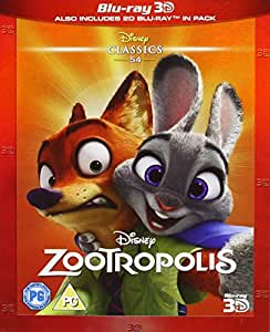Zootropolis [Blu-ray 3D] [Region Free]