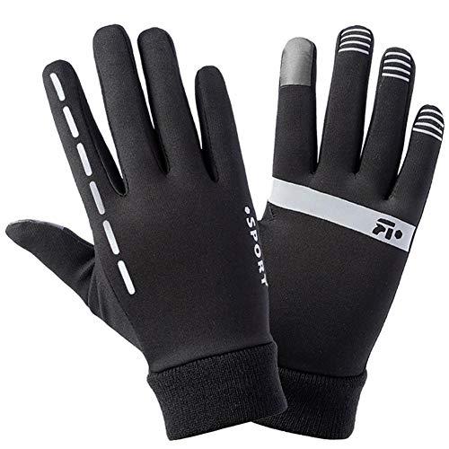shape Voller Finger-warme Sport-Handschuhe Breathable Wasserdichter Touch Screen Anti-Rutsch Vision Reflektierende SAMT-Futter-Handschuhe für Sport im Freien (Handschuhe Finger-kompression Volle)