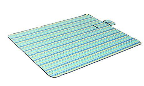Honeystore 180*150 Oxford Yoga Matte Strand Ausflug Picknickdecke mit wasserabweisender Unterseite Blau