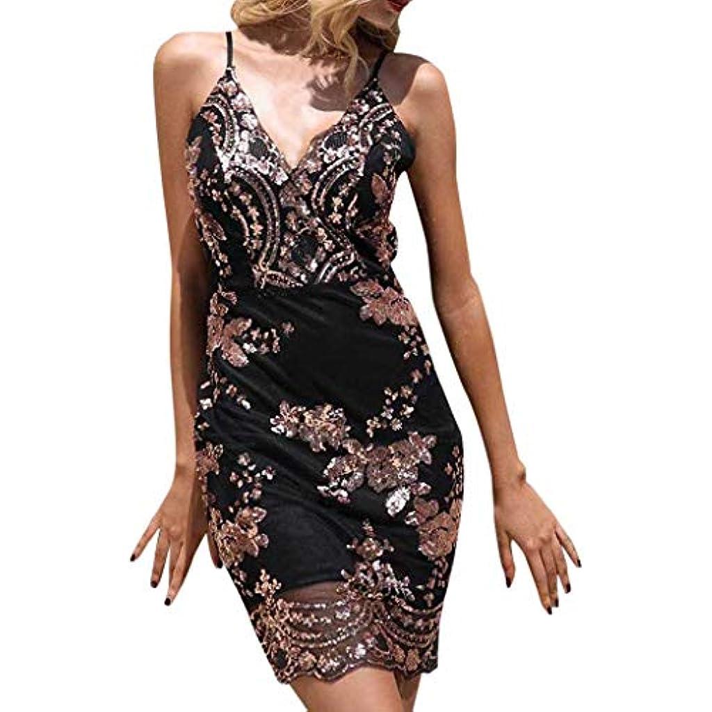 Mujer vestidos  de  fiesta  cortos  elegantes  lentejuelas  sin  mangas  v   cuello  hombro  espalda  descubierta  slim  fit  vintage  moda  vestido   coctel  ... 09247956ff27