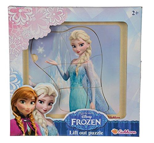 Eichhorn 100003370 - Disney Frozen Einlegepuzzle 4-fach sortiert, bunt