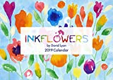 2017 Flores de tinta Calendario David Lyon