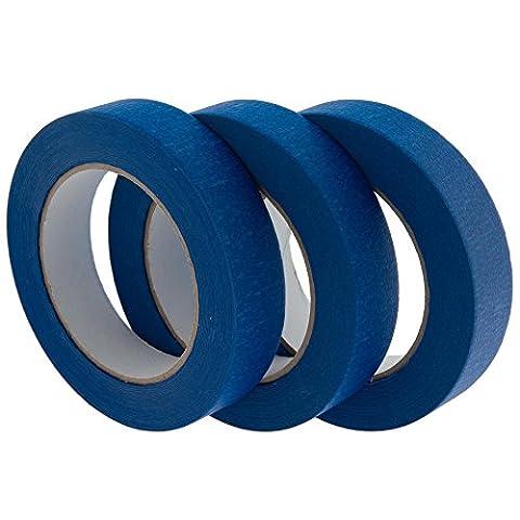 Corail Outils 715002,54cm 25m facile Masque Rouleau de ruban adhésif de masquage–Bleu (Lot de 3)