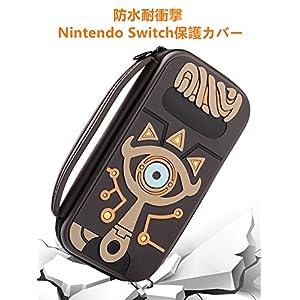 Poconic Tragetasche Kompatibel mit Nintendo Switch – Legend of Zelda Aufbewahrungstasche/- Hartschalen Case/Cover/Hülle/Schutzhülle für die Verwendung mit der Nintendo Switch Konsole & Accesoires