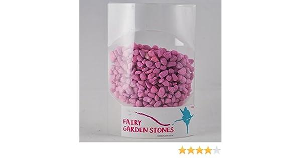 Fairy Garden UK Path Stones Pink Miniature Fish Pebbles Colourful Magic Accessory 200g