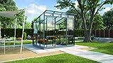 Freya 5900 Alu-Gewächshaus ESG 3 mm Anthrazit Treibhaus Gartenhaus inkl. Fundament