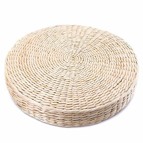 6SHINE Sitzkissen Runden Stuhl 40 * 6 cm Yoga Kissen Stroh Weben Möbel Esszimmer Wohnkultur Beige Boden Pad Gras Kissen Outdoor Kissen Pad Handgefertigten Stuhl Sitz Garten Zen Mat -