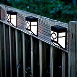 KEEDA Solar-Gartenzaun-Lichter, Solar-Rinnenlicht, Bewegungsmelder, Nachtlicht, solarbetriebene Lichter, für den Außenbereich, Gartenzaun, White Lights, 2er-Pack 2.0volts
