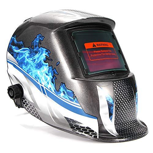 OurLeeme Schweißhelm, Sonnenbrille Objektiv Photoelektrische UV-Schutz Schweißer Maske Helm Automatische Augenschutz