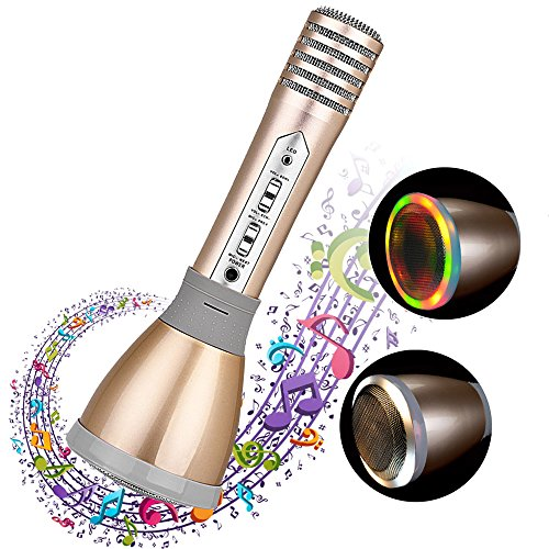 Karaoke-Microphone-Multi-functional-Portable-Micrfono-de-karaoke-bluetooth-Wireless-Microphone-Bluetooth-Speaker-KTV-Karaoke-Mic-Music-Player-Compatible-with-Android-and-IOS-Gold