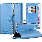Cadorabo - Funda Apple iPhone 5 / 5S / 5G Book Style de Cuero Sintético en Diseño Libro - Etui Case Cover Carcasa Caja Protección (con función de suporte y tarjetero) en AZUL-PASTEL