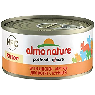 almo nature HFC Natural - Kitten Wet Food with Chicken (Pack of 24 x 70g Tins) 5