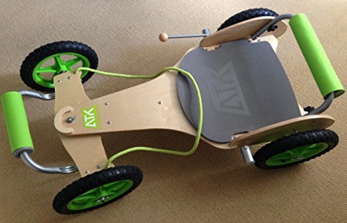 The ATK All Terrain Kart Classic - wooden go kart is a fine example of wooden go-carts as its construction is solid and lasts long. To get this model means spending a bit more coin than you probably intended but nonetheless it is worth it. Designed for larger children, the go-cart gives them enough space to ride without compromising the overall design. The unit is easy to put together and requires little maintenance. We would recommend this for those who don't mind spending money to ride around with something a bit more classical.