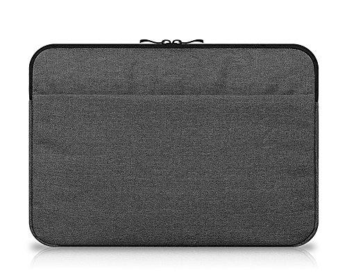 I3542 Laptop Dell (15-15.6 Zoll Laptop Hülle Sleeve Tasche Notebooktasche Stoßfest Schutzhülle MacBook Pro/Air/Acer/Asus/HP/Samsung/Dell/Fujitsu/Lenovo Grau Schwarz)