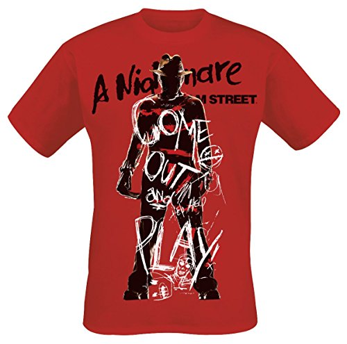 A Nightmare On Elm Street Freddy Krueger - Come Out and Play T-Shirt Red