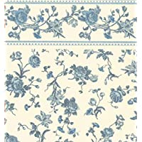 Melody Jane Dolls House Raffina Blue Rose Miniature Print 1:12 Scale Wallpaper 3 Sheets