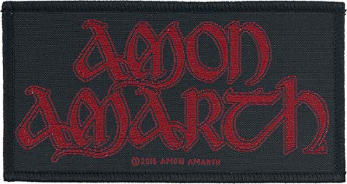 Amon Amarth Red Logo Patch Standard - Wikinger-logo-patch