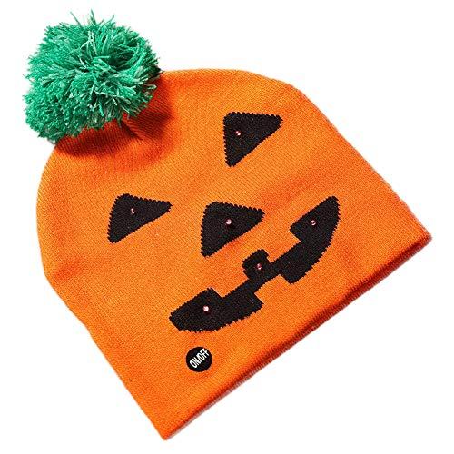 Halloween-Spaß-Strickmütze, Geist-Kürbis-Muster-Hüte Halloween-Kostüme für Kinder Kinderfestliche Partei-Versorgungen