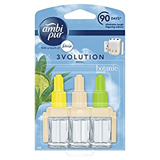 Ambipur 3Volution Air Freshener Plug-In Refill, 20 ml, Botanic Breeze, Pack of 6