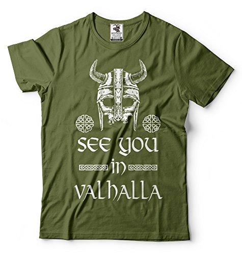 Silk Road Tees Hombres verá en Valhalla Camiseta de Viking Camiseta Ragnar...