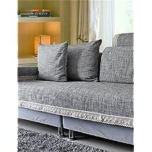 zzlovehome-home impermeable Funda para sofá en microfibra sólido Mini cubo acolchado sillón reclinable, Home muebles funda protectora para sillas, 90*150cm