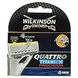 Wilkinson - 70010900 - Chargeur de 4 Lames Quattro Titanium Précision