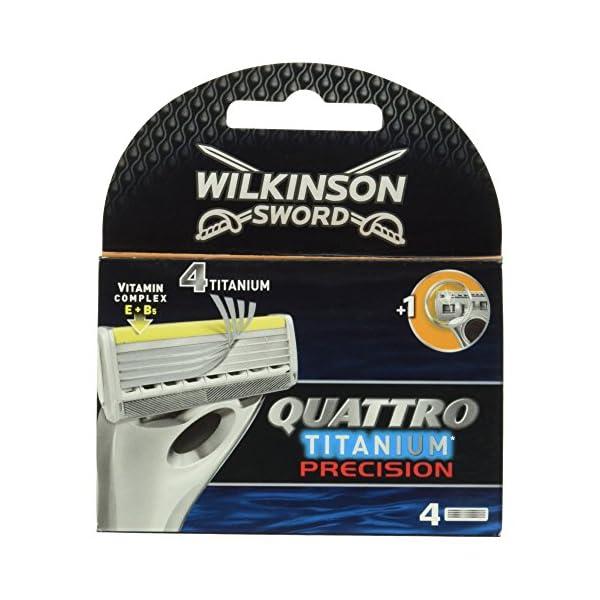 Wilkinson Sword Quattro Titanium Precision Razor Blades