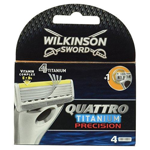Wilkinson Quattro Titanium Precision - Cuchillas afeitar