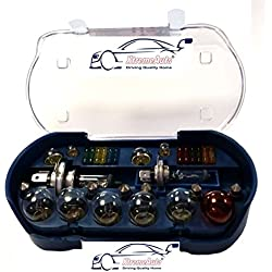 XtremeAuto UNIVERSAL 30 PIECE SPARE BULB KIT INCLUDING H1 H4 H7 380 382 581 BULBS & FUSES + XTREMEAUTO STICKER