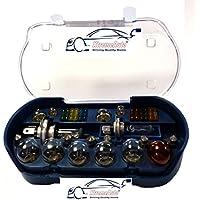Bombillas XtremeAuto® Juego de 30 repuestos universales, incluye bombillas y fusibles H1H4H7380 382 581 + adhesivo XtremeAuto®