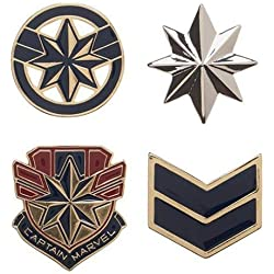Bioworld Marvel Captain Marvel Lapel Pin Set