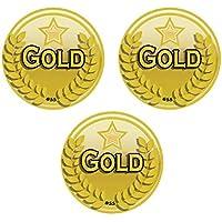 225x Medaglia d' oro/Sport Adesivi–Ideale per Scuola Sport giorno e altre gare/caso premio - Giorno Runner