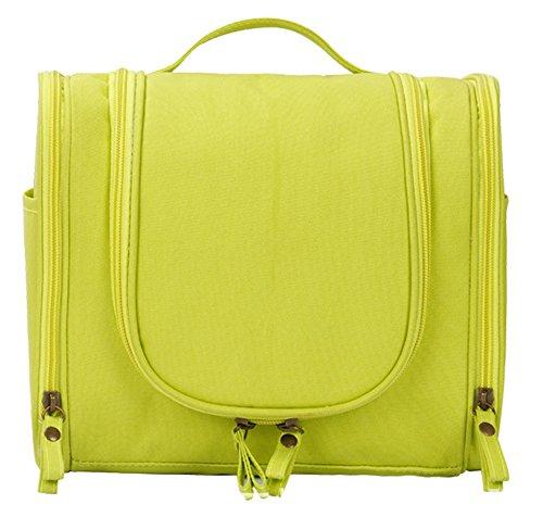 Wasserdicht 300D Oxford-Gewebe Kulturbeutel Tragbare Hanging Wash Bag Make-up-Kosmetik-Beutel Reise Zubehör-Zitronengelb