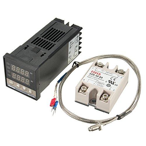 100-240V 40A Digitaler PID-Temperaturregler SSR K Thermoelementsensor