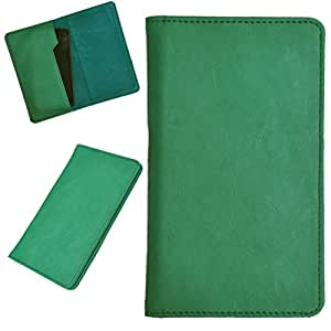DCR Pu Leather case cover for Karbonn A8 (green)