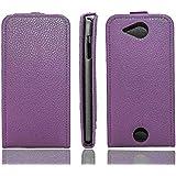 caseroxx funda Flip Cover para Acer Liquid Jade S55, Carcasa con flip para el smartphone (flip case en lila)