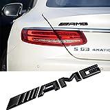 Ricoy - Adesivo decorativo 3D con logo AMG, in plastica ABS, da applicare sul bagagliaio