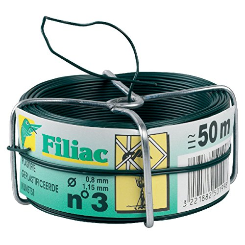 Fil galvanisé plastifie Filiac - Longueur 50 m - Diamètre 1,15 mm - Vert