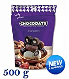 500 g Chocodate - Schokolade Datteln mit Mandeln Sortiert Extra Economy-Familienpackung, neue und verbesserte Qualität