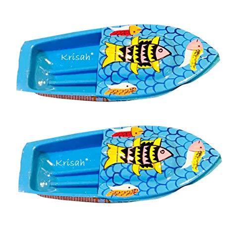 Krisah® 2 pcs Hand Painted Fish Design Putt Putt Phat Phat Pop Pop Boat Toy