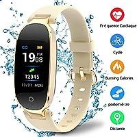 Udenx Montre Connectée Sport Fitness Tracker d'Activité Montre Étanche IP67 Bracelet Intelligent Podomètre Calories Sommeil-pour Femme Homme Sport/Android et iOS Portable